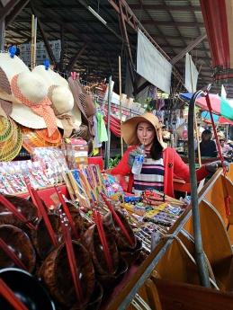 vany visits bangkok thailand floating market